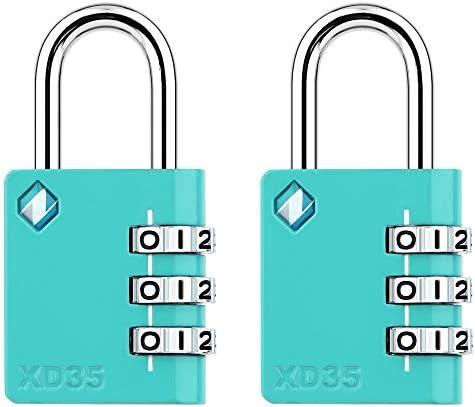 [ZARKER XD35] Padlock- 3 Digit Combination Lock...