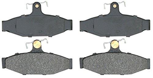ACDelco 14D413MH Advantage Semi-Metallic Rear Disc Brake Pad Set with Hardware