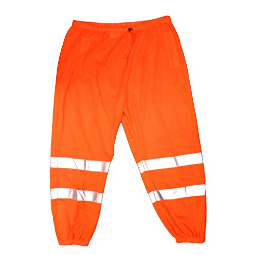Cordova Safety Products P100L/XL Cor-Brite Mesh Pants, Large/X-Large, Hi-Vis Orange by Cordova Safety Products