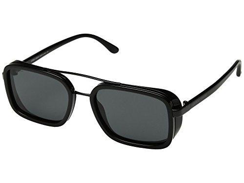Giorgio Armani Mens Sunglasses Black/Grey Metal - Non-Polarized - 53mm