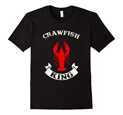 [Men's Crawfish King T Shirt - Crawfish Boil Party Festival Shirt 2XL Black] (Beer Koozie Costume)