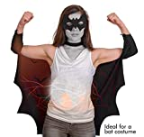 Skeleteen Bat Wings Costume Accessory - Black Wing
