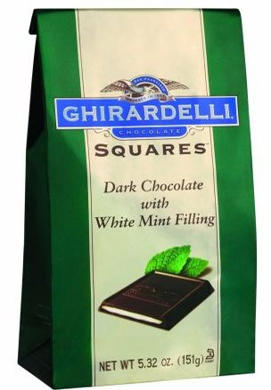 Ghirardelli, Dark Chocolate Mint Filled Squares, 5.32oz [pack of 3] ()