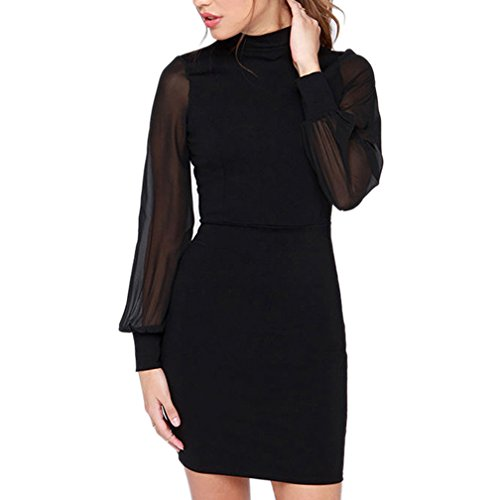 autumn-melody-stylish-sexy-solid-color-pack-hip-skirt-slim-lady-dresses-size-l-us-black