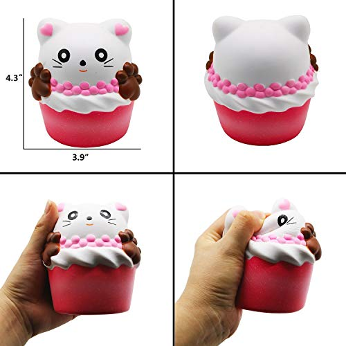 Korilave Jumbo Squishies Slow Rising Animal Squishy Toys - Cupcake,Sleeping Bear,Donut,Heart Cat,Waffles,Unicorn Horse as Birthday Gift Party Favors Christmas Stocking Stuffers for Kids(6 Packs)