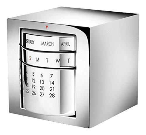 Silver Perpetual Desk Calendar by David Van Hagen by David Van Hagen