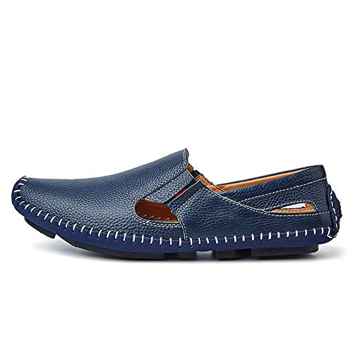 Hollow estivi uomo Mocassini piatto Slip Dimensione casual Blu pelle Drive EU 46 barca Mocassini Giallo da Ofgcfbvxd Scarpe Color in On wz1xxI
