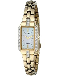 Seiko Womens SUP236 Dress Solar Gold-Tone Watch