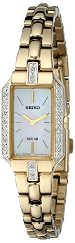 (Seiko Women's SUP236 Dress Solar Gold-Tone Watch)
