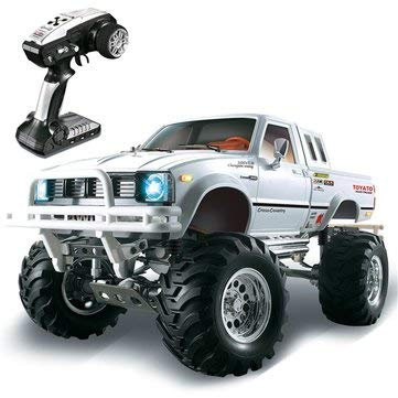 K&A Company HG P407 1/10 2.4G 4WD Rally Rc Car for TOYATO Metal 4X4 Pickup Truck Rock Crawler RTR Toy, White