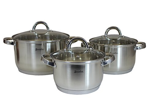 5 Ply Cookware Set (SMAKFEST 6 PC Stainless Steel 5 Ply Bottom Cookware Set (Induction)