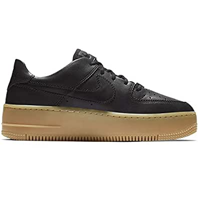 Nike Air Force 1 Sage Low LX Leather Oil Grey Womens Trainers 4.5 UK