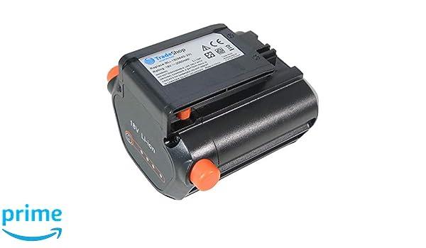 Trade-Shop - Batería de ion de litio 18 V/2000 mAh, sustituye a ...