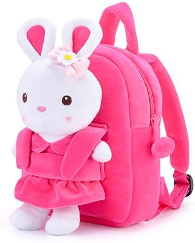 Gloveleya Children's Backpacks Toddler Bags-3D Cartoon Animals Plush Kids Shoulder Bags 10''