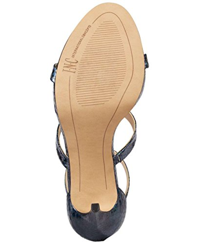 INC International Concepts Womens saddief Open Toe Ankle Strap Classic Pumps Navy Mult