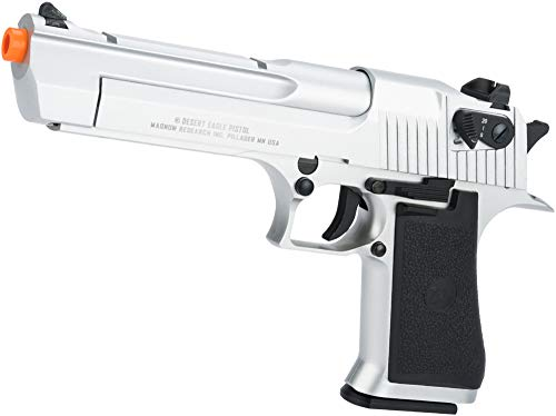 (Evike Magnum Research Licensed Semi/Full Auto Metal Desert Eagle CO2 Gas Blowback Airsoft Pistol by KWC (Color:)