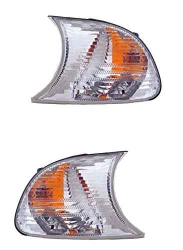 2002-2003 BMW 3-Series (E46 2-Door Coupe & Convertible Models Only) 325Ci 330Ci M3 Clear Lens Corner Park Light Turn Signal Marker Lamp Set Pair Right Passenger AND Left Driver Side (02 (Marker Lamp Set)
