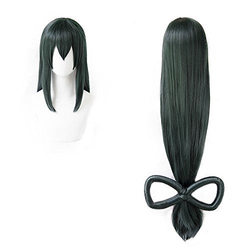 magic acgn Dark Green Cosplay Wig Length: 35 inch Straight Halloween Wig