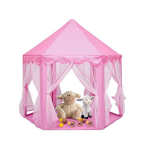 Dyna-Living Princess Playhouse Tent, Girls Play Tent Princess Hexagon Castle Girls Playhouse Large Indoor Outdoor Hexagon Princess Castle Tent Fairy Playhouse for Girls Boys, Pink, 55'' x 53'' (DxH) [並行輸入品] B07R3XT6DK, 増毛郡:ab57c467 --- number-directory.top