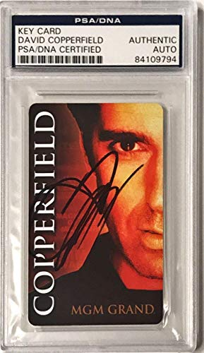 David Copperfield Magic Illusion Signed Auto Room Key Card Slabbed (B) - PSA/DNA Certified