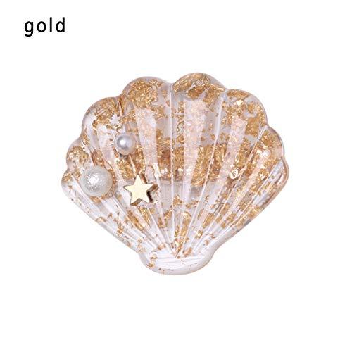 - 1Pcs Shell Claw Shiny Acrylic Hair Claws Hair Clip Amoeba Hairpin For Women Hair Headwear Ornaments(Gold,-)