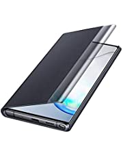Clear View Smart Filp Cover Easy control with dedicated UX for Samsung Note 10 Plus - Black