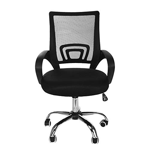 Ergonomic Adjustable Breathable Mesh Office Chair, Black Liftable Home 360-Degree Swivel High Back Net Chair Executive Task Desk Chair Computer Chair Guest Reception Chair(Ordinary or Upgrade) (Ordinary) (Cosco Flat Fold High Chair Fruity Jungle)