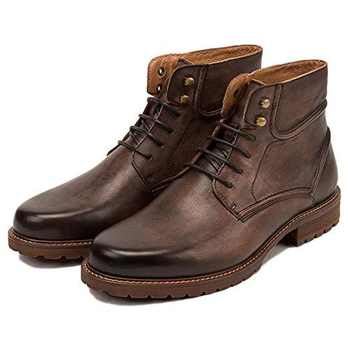 Bovina Boots Adulti Sicurezza Stivali Stivali Stivali Top di Pelle Martin Mens in Pelle in Pelle Autunno in Brown2 per Classici Inverno Alti E Doc AqnwXWEB