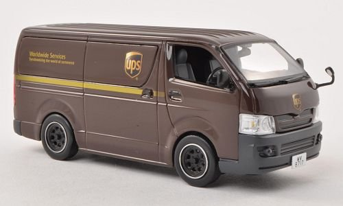 Toyota Van Models - Toyota Hiace Van, UPS (HK), RHD , 2007, Model Car, J-Collection 1:43