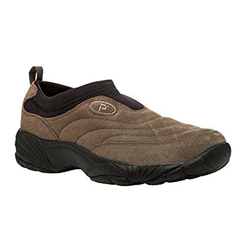 Propet Mens Wash & Wear Slip-on Ii Chaussure En Daim Gunsmoke / Black 9 X (3e) & Cleaner