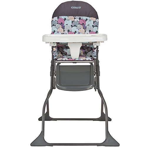 (Cosco Simple Fold High Chair, Elephant Puzzle)