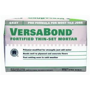 Custom Building Products MTSG25 VersaBond Fortified Thin-Set Mortar Gray, 25-Pound (Modified Thin Set Mortar)