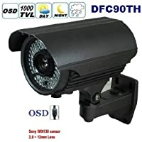 DTVASION® DFC90TH CCTV CAMERA Newest HD 1000TVL SONY IMX138 CCTV Waterproof Outdoor Security Camera With 2.8- 12 lens ZOOM&FOCUS IR 60M-Grey