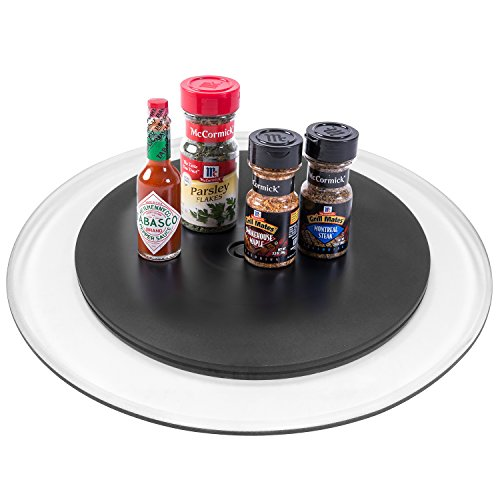 12 Inch Black Acrylic Kitchen Lazy Susan Turntable, 360 Degree Rotating Swivel Ball Bearing Stand price