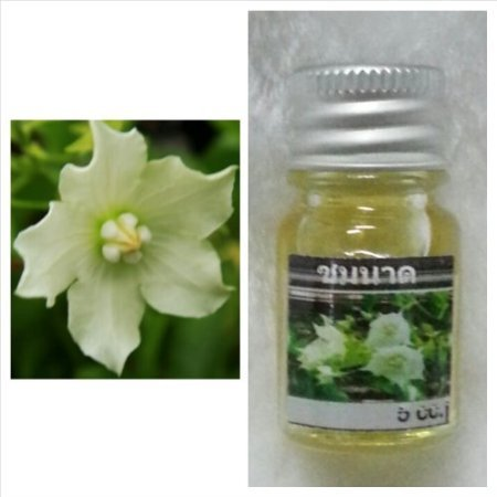 Japanese Orchid Flower Scent (1 Piece) and Bread Flower (Chommanad) Scent (1 Piece)thai Spa Aroma Pure Essential / Fragrance Oil for Spa Bath, Candle Lamp Burner, 5ml