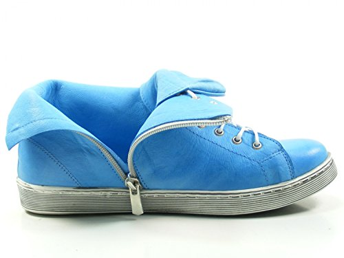 Andrea Conti Ladies Sneaker Alta 0341500 Stivali In Pizzo Blu