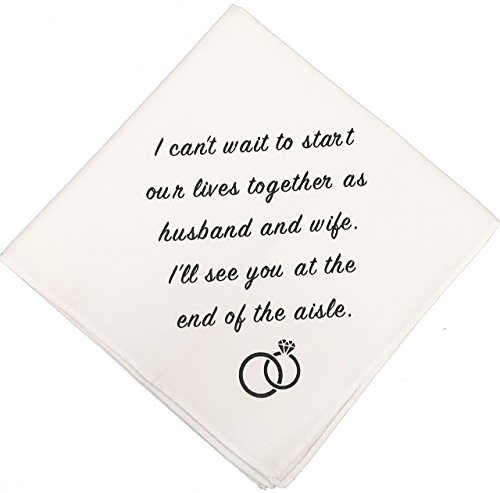 Groom Wedding Handkerchief by Wedding Tokens- Groom Gift (Wedding Tokens)