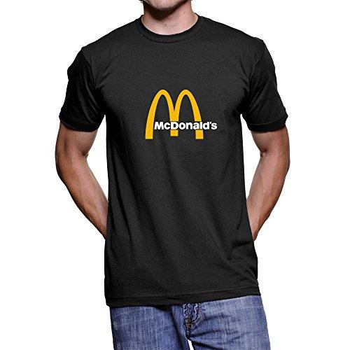 Fashion Personality T-shirts Series, McDonald's Logo Unisex Custom T-shirt (Black, M-Medium(US Size)) from CCS