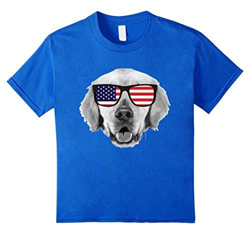 Kids Labor Day T Shirt Usa Patriotic Dog Pappy American Flag 12 Royal Blue