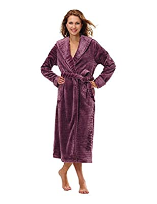 Raikou Women's Microfiber Fleece Bathrobe Robe 712843