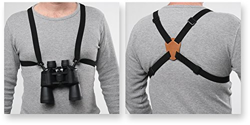 Bulldog Cases Black Adjustable/Stretching Binocular Harness with Leather Back