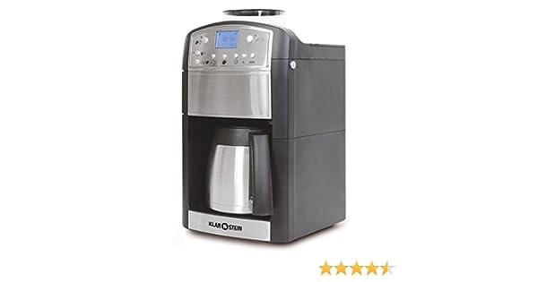 KLARSTEIN Coffeemate Premium Cafetera con Molinillo 5 Niveles y ...