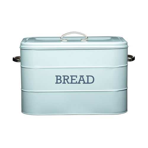Kitchencraft Living Nostalgia Large Metal Bread Bin, 34 x 21.5 x 25cm - by Kitchen Craft