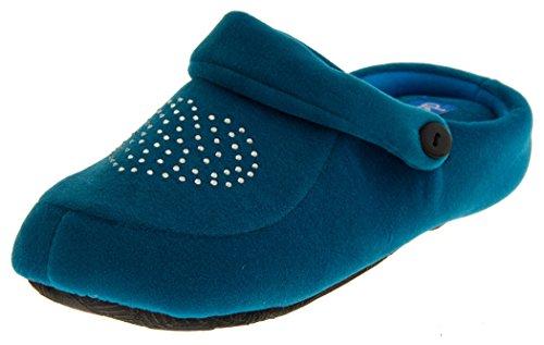 Teal Footwear mujer destalonados Studio Diamante blanco Zapatos Aqua W8aaYrgq