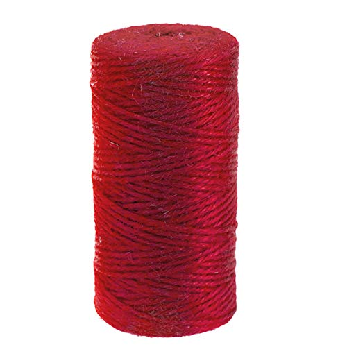 Hemp Ply 3 (Red Christmas Jute Twine,328 Feet 2mm 3 ply Colorful Jute Twine Best Arts Crafts Gift Twine Durable Packing String)