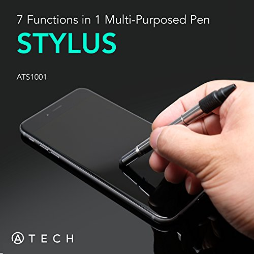 ATECH Multifunction Pen 7 in 1 Tech Tool Pen with Ruler, Stylus, Bottle Opener, 2 Screw Driver, and Phone Stand, Multifunction Tool Fit for Mens Gift (Black) by ATECH INNOVATION (Image #2)