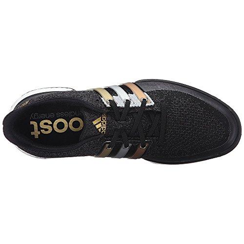 adidas mens tour360 prime auftrieb golf schuh schwarz - metallic - gold