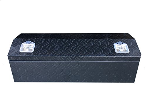 Box Top Side Tool - Brait BR44B Aluminum Truck Pickup tool Box ATV Trailer Garage Storage Top-Side Open, Black