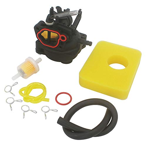 KIPA Carburetor Air Filter Maintenance kit for Briggs & Stratton 799584 Fit Yard Machines Snapper Toro Troy-Bilt B110 Husqvarna LC 121P Lawn Mower Mower with 09P702 9P702 550EX Series Engines