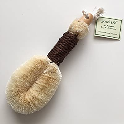 "Touch Me All Natural Spa Dry Skin Brush- Premium Quality -10"" Length"